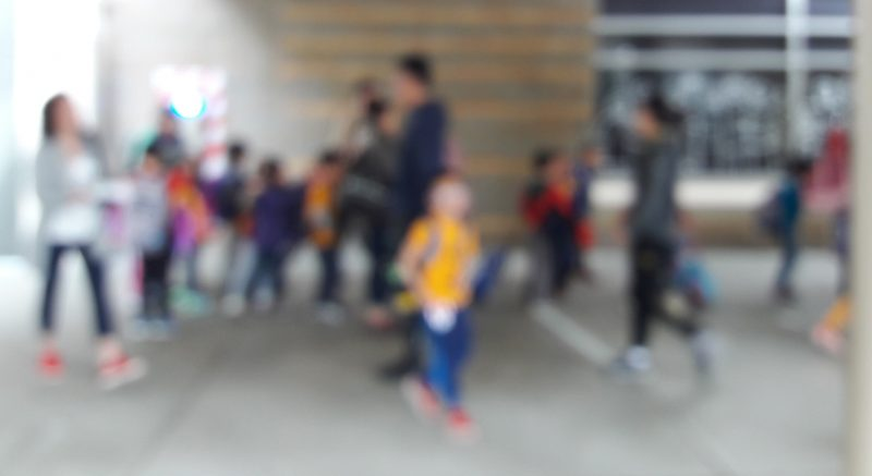 Kids out of focus