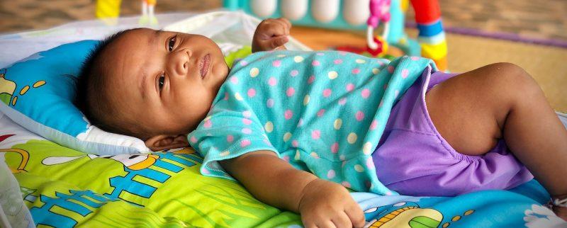 Baby on a mat